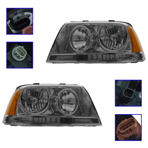 2003-05 Lincoln Aviator HID (w/Ballast) Headlight PAIR