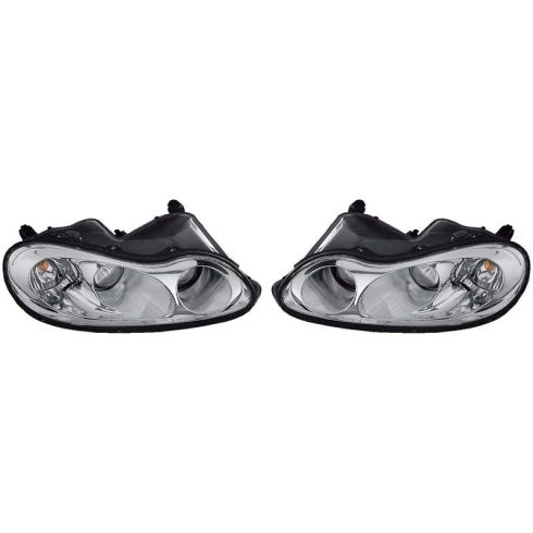 2002-04 Chrysler Concorde 99-01 LHS Headlight PAIR