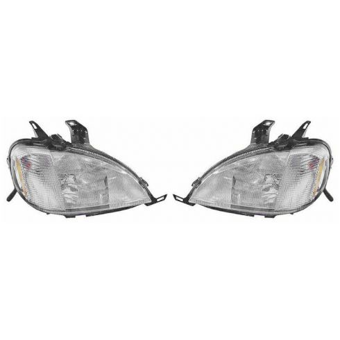 1998-01 Mercedes ML Series w/Sprt Pkg Halogen Headlight PAIR