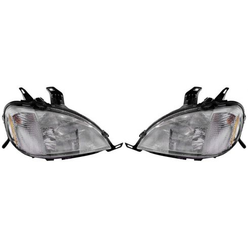 1998-01 Mercedes ML Series w/o Sprt Pkg Halogen Headlight PAIR