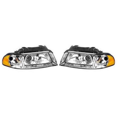 1999-02 Audi A4 Halogen Headlight PAIR