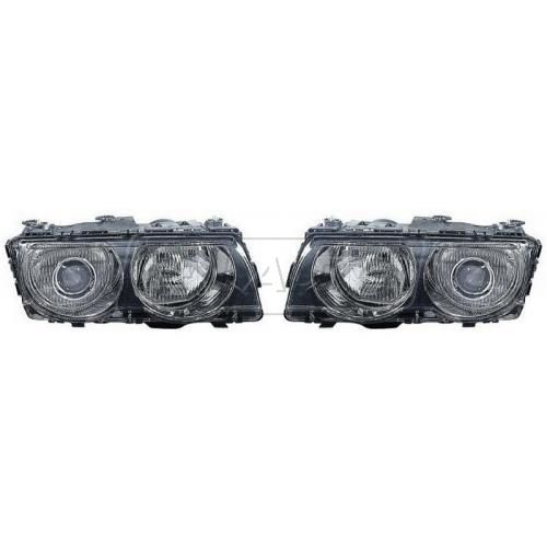 1999-01 BMW 7 Series HID (w/o Ballast) Headlight (w/o Chrome) PAIR