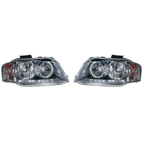 2006-08 Audi A3 Halogen Headlight PAIR