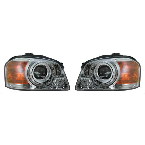 2003-04 Kia Magentis Optima Outer (Low Beam) Headlight PAIR