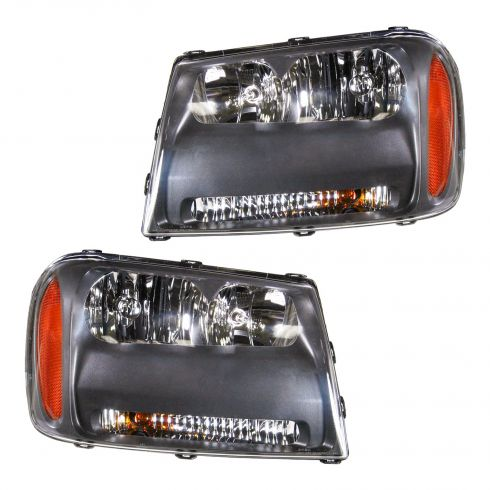2006-09 Chevy Trailblazer Headlight PAIR