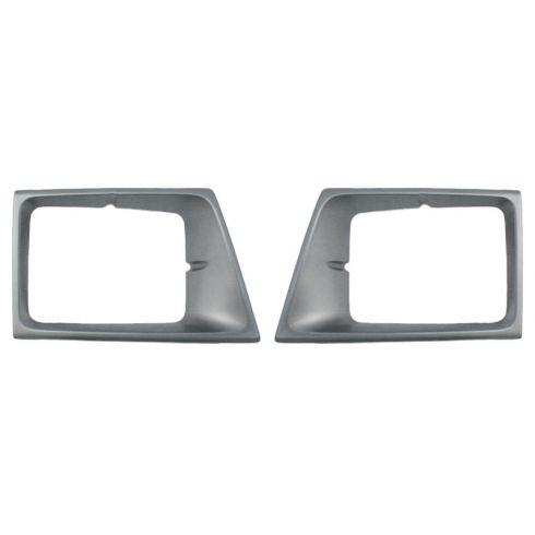 92-96 Ford E Van Silver Gray HL Bezel PAIR
