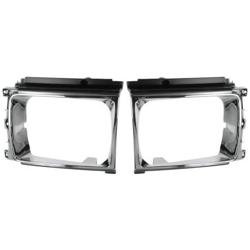 87-89 Toyota 4 Runner; 87-88 Pickup 4x4 Chrome Headlight Bezel PAIR