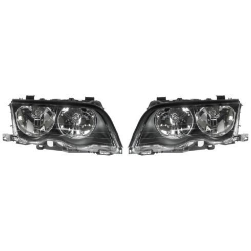 99-01 BMW 320i 323i 325i 328i 330i Headlight Halogen Sedan & Wagon PAIR