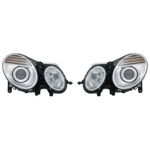 07-09 Mercedes W211 E-Type 4DR & SW Halogen Headlight PAIR