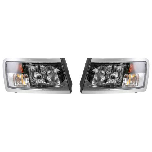 08-10 Dodge Dakota Headlight w/Blk Bezel PAIR