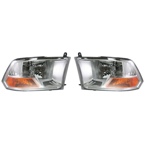09-10 Dodge Ram PU (w/o Quad Lights) Headlight PAIR