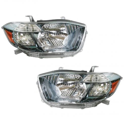 08-10 Toyota Highlander Hybrid Headlight PAIR