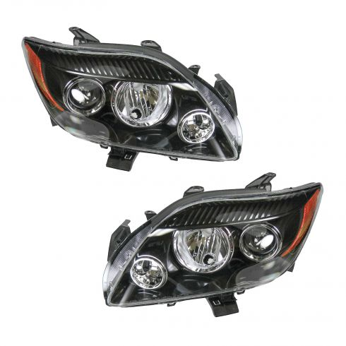 08-10 Scion tC (w/o Base Pkg) Headlight PAIR