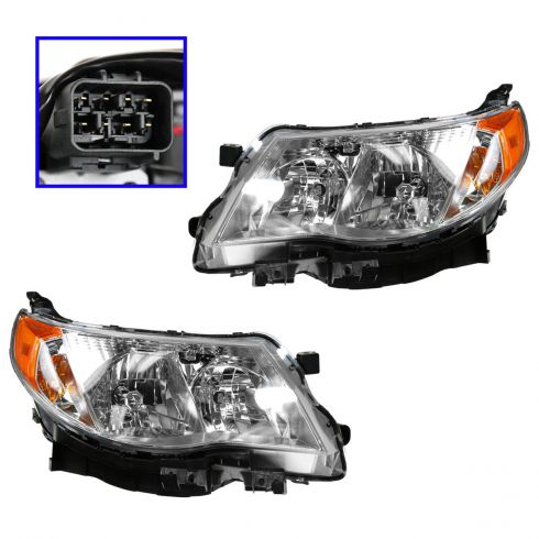 09-10 Subaru Forrester Halogen Headlight PAIR