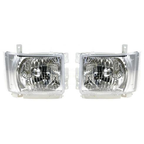 08-11 Isuzu N-PR/N-PR HD/N-QR;GMC W SERS Headlight ASY PAIR