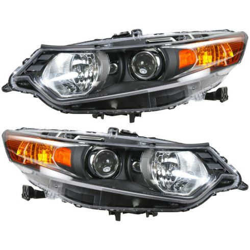 09-10 Acura TSX Headlight HID (w/o Ballast) PAIR