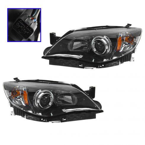 08-11 Subaru Impreza 2.5i, WRX (exc STI) Halogen Headlight PAIR