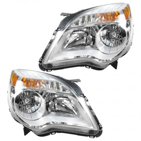 2010-11 Chevy Equinox LS LT Headlight PAIR