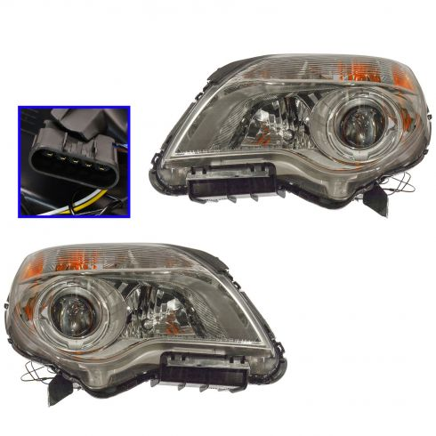 2010-11 Chevy Equinox LTZ Headlight PAIR