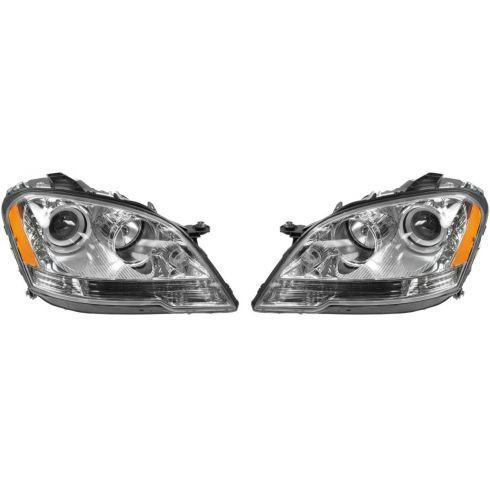 2008-11 Mercedes Benz ML Series Halogen Headlight PAIR