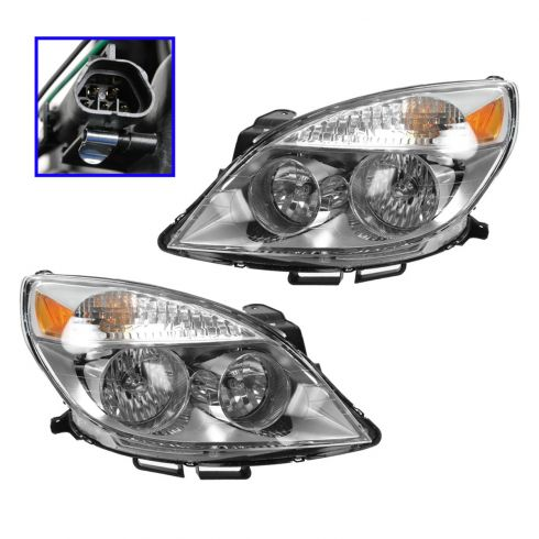 2007 (from 4/12/07)-10 Saturn Aura, -09 Aura Hybrid Headlight PAIR