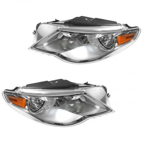 2009-10 VW Passat CC Halogen Headlight PAIR