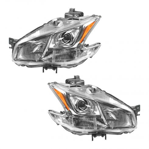2009-11 Nissan Maxima Halogen Headlight PAIR