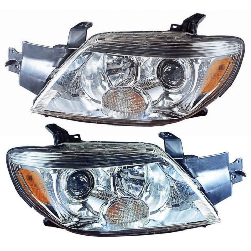 05-06 Mitsubishi Outlander (exc Limited) Headlight PAIR