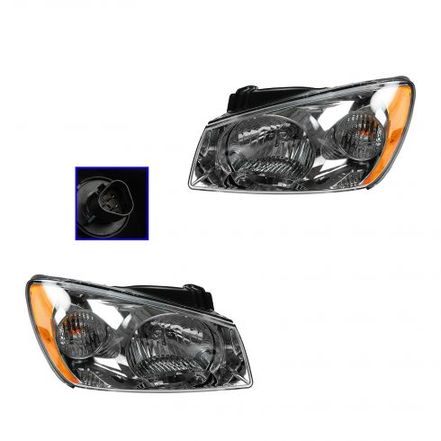 04-06 Kia Spectra Headlight Pair