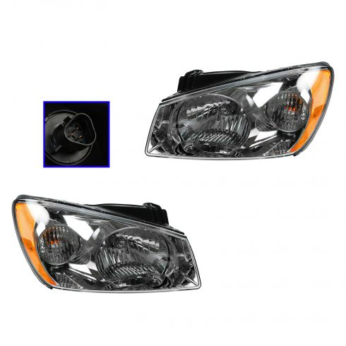 05-06 Kia Spectra Headlight PAIR