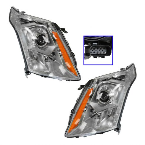 10-11 Cadillac SRX Halogen Headlight PAIR