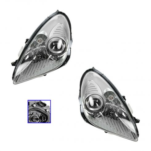 05-11 Mercedes Benz SLK Series (w/o Sport Pkg) Halogen Headlight PAIR