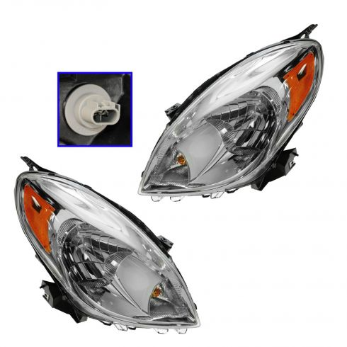 12 Nissan Versa Sedan Headlight PAIR