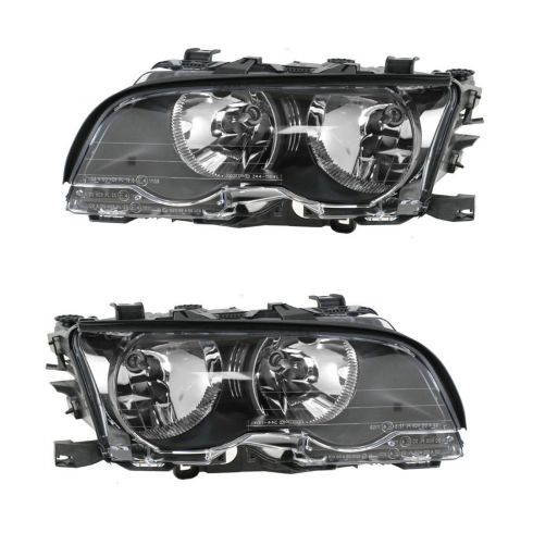 99-01 BMW 3 Series Headlight for Coupe and Convertible PAIR