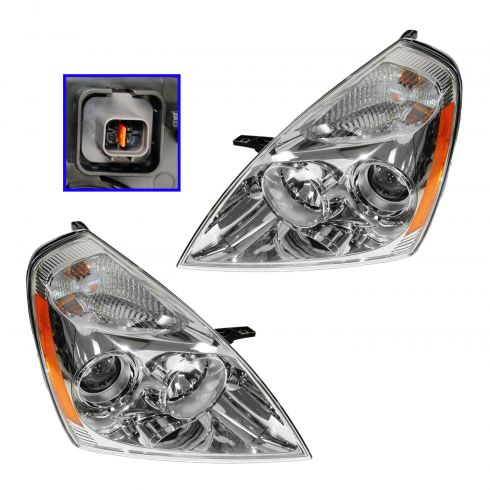 07 Kia Sedona; 08 (thru 6/2/08) Sedona Headlight PAIR