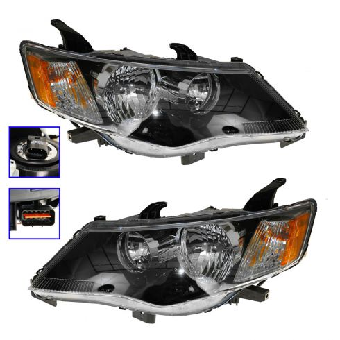 09 Misubishi Outlander Halogen Headlight PAIR