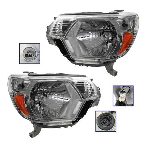 12-13 Toyota Tacoma Headlight PAIR
