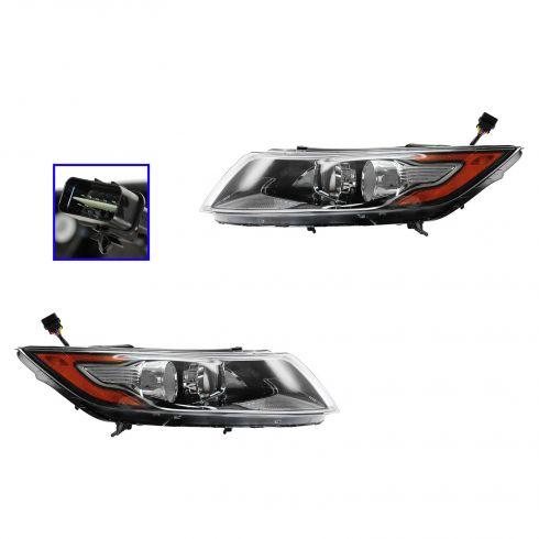 11-13 Kia Optima Hybrid Halogen Headlight PAIR
