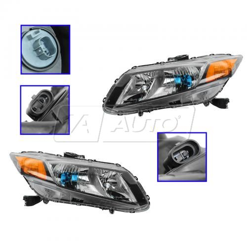 12 Honda Civic Hybrid Headlight PAIR