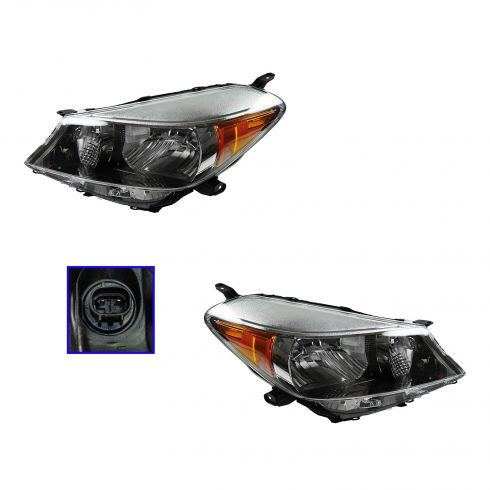 12-13 Toyota Yaris (w/o Sport) Headlight PAIR