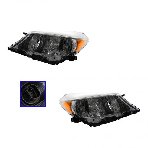12-13 Toyota Yaris Sport Headlight PAIR