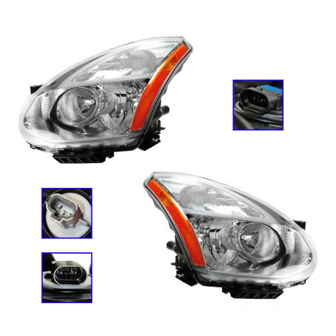 09-10 Nissan Rogue Halogen Headlight PAIR