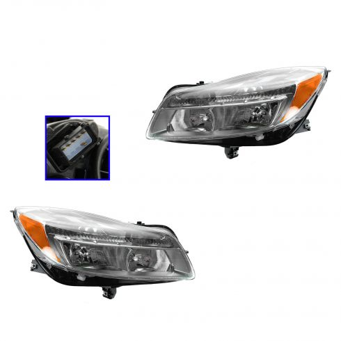 11-13 Buick Regal Halogen Headlight PAIR