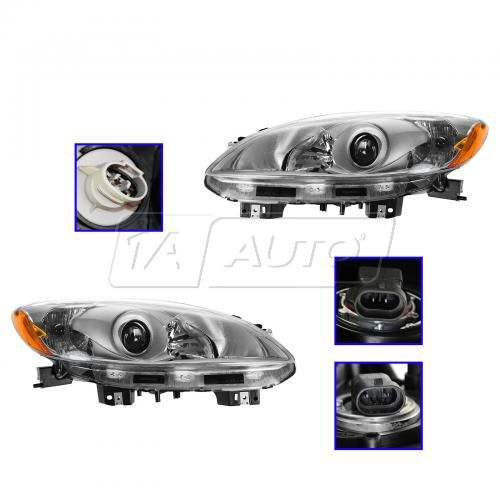 12-13 Mazda 5 Halogen Headlight PAIR