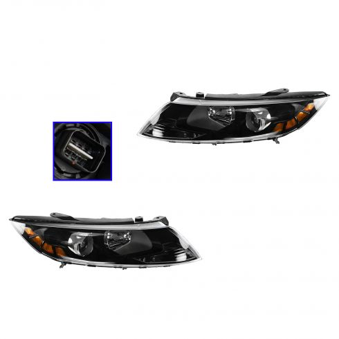 12-13 Kia Optima (US Built) Halogen Headlight PAIR