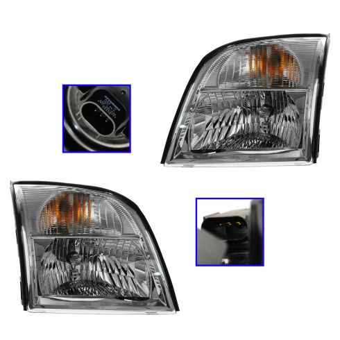06 (from 12/12/05)-10 Mercury Mountaineer Headlight PAIR