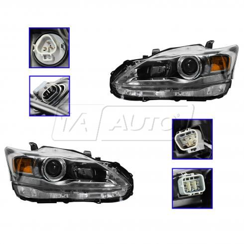11-13 Lexus CT200H Halogen Headlight PAIR