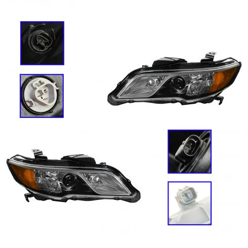 13 Acura RDX Halogen Headlight PAIR
