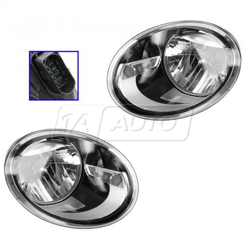 12-13 VW Beetle Halogen Headlight PAIR