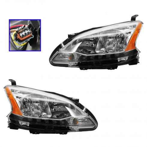 13 Nissan Sentra Headlight PAIR